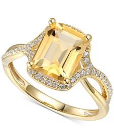 Citrine (2-1/10 ct. t.w.) & Diamond (1/4 ct. t.w.) in 14k Gold