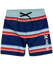Little Boys Striped Board Shorts Swim Trunks