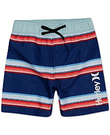 Hurley Little Boys Striped Board Shorts Swim Trunks