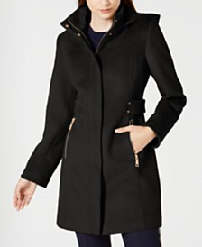 Vince Camuto Hooded Walker Coat