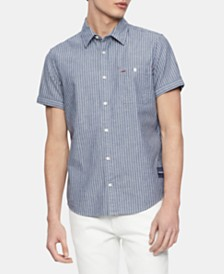 Calvin Klein Jeans Men's Railroad Workwear Shirt