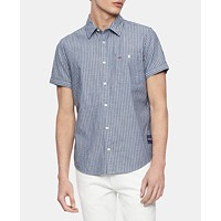 Deals on Calvin Klein Jeans Mens Railroad Workwear Shirt