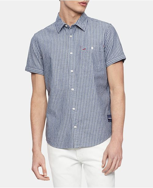 Calvin Klein Jeans Men's Railroad Workwear Shirt