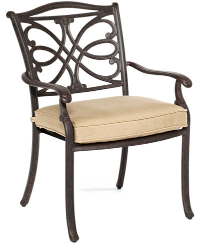 CLOSEOUT! Kingsley Cast Aluminum Outdoor Dining Chair