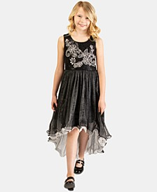 Big Girls Embroidered Sequin Dress
