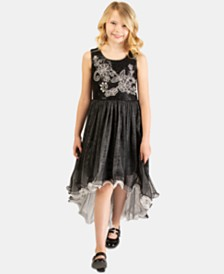 Bonnie Jean Big Girls Embroidered Sequin Dress