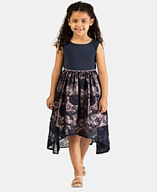 Little Girls Knit High-to-Low Dress