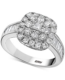 EFFY® Diamond Cluster Statement Ring (1-3/8 ct. t.w.) in 14k White Gold