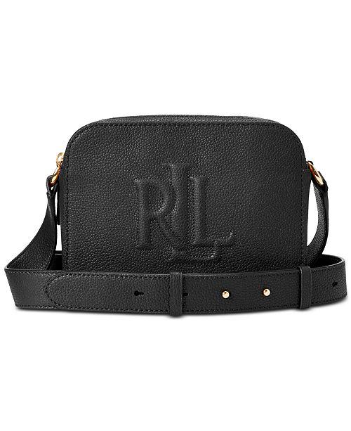 Lauren Ralph Lauren Hayes Pebbled Leather Crossbody