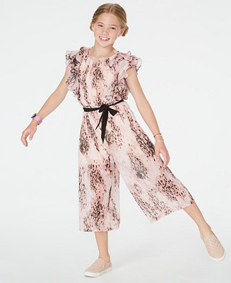 Big Girls Ruffled Cropped Jumpsuit by General