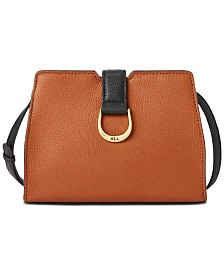 Lauren Ralph Lauren Kenton City Small Pebbled Leather Crossbody