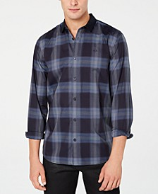 Men's Contrast Plaid Shirt