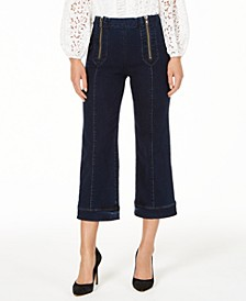 Cropped Zip-Front Jeans, Created for Macy's