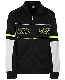 Big Boys Colorblocked Zip-Up Track Jacket