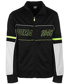Puma Big Boys Colorblocked Zip-Up Track Jacket