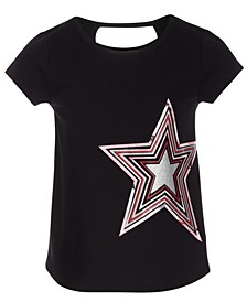 Little Girls Keyhole Back T-Shirt, Created for Macy's