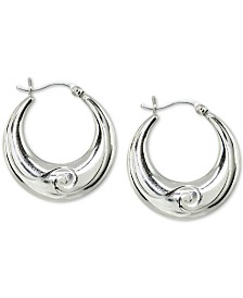 Giani Bernini Wave Hoop Earrings in Sterling Silver, Created for Macy's