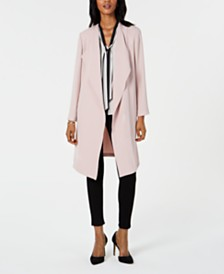 Nine West Wing-Collar Topper Jacket