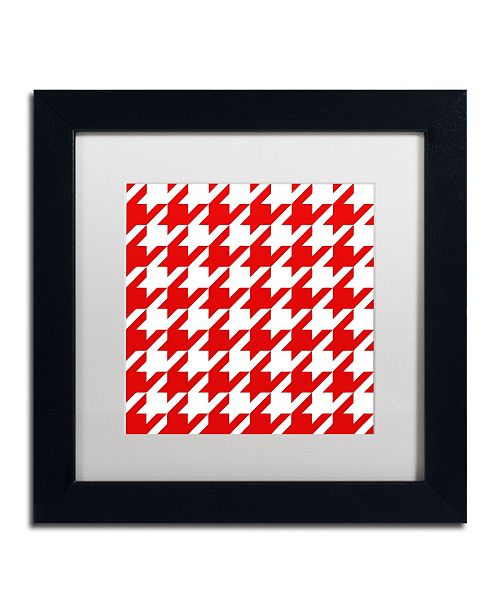 "Trademark Global Color Bakery 'Xmas Houndstooth 2' Matted Framed Art - 11"" x 11"""