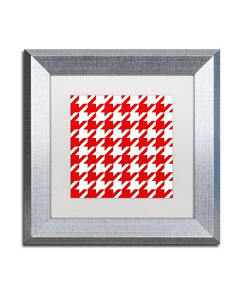 """Trademark Global Color Bakery 'Xmas Houndstooth 2' Matted Framed Art - 11"""" x 11"""""""
