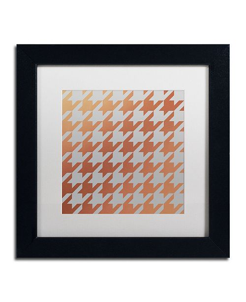 """Trademark Global Color Bakery 'Xmas Houndstooth 4' Matted Framed Art - 11"""" x 11"""""""
