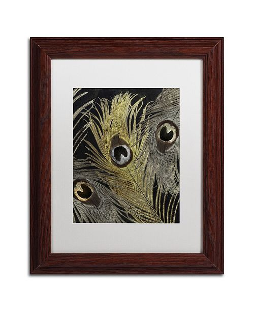 """Trademark Global Color Bakery 'Feather Fashion II' Matted Framed Art - 11"""" x 14"""""""