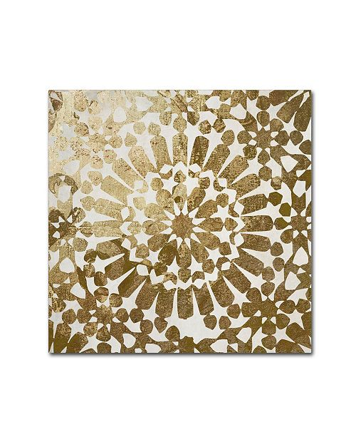 """Trademark Global Color Bakery 'Moroccan Gold I' Canvas Art - 14"""" x 14"""""""