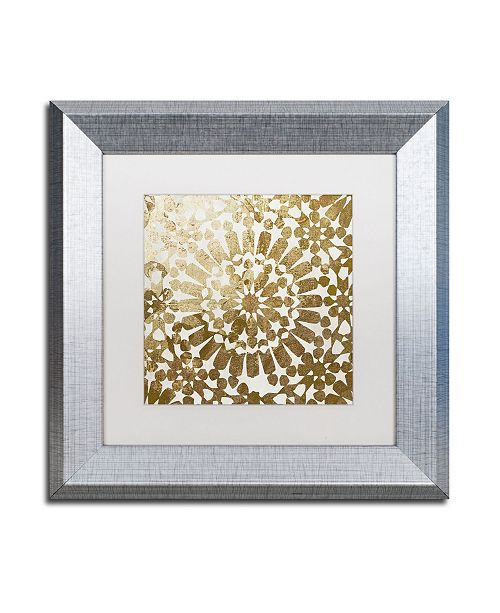 "Trademark Global Color Bakery 'Moroccan Gold I' Matted Framed Art - 11"" x 11"""