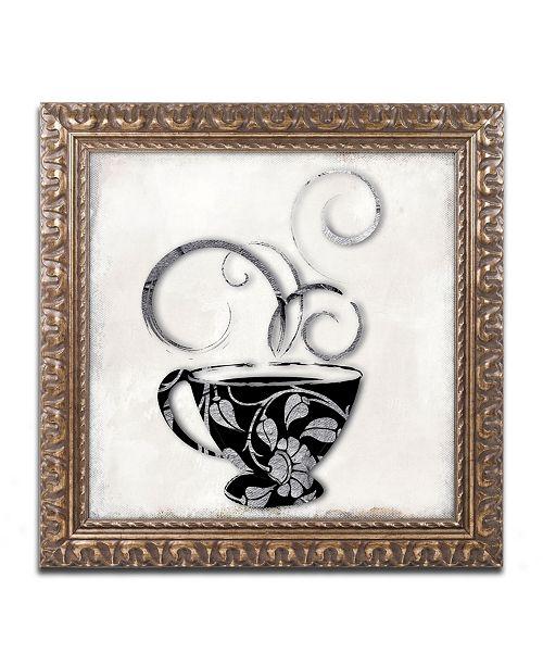 "Trademark Global Color Bakery 'Silver Brewed 1' Ornate Framed Art - 11"" x 11"""