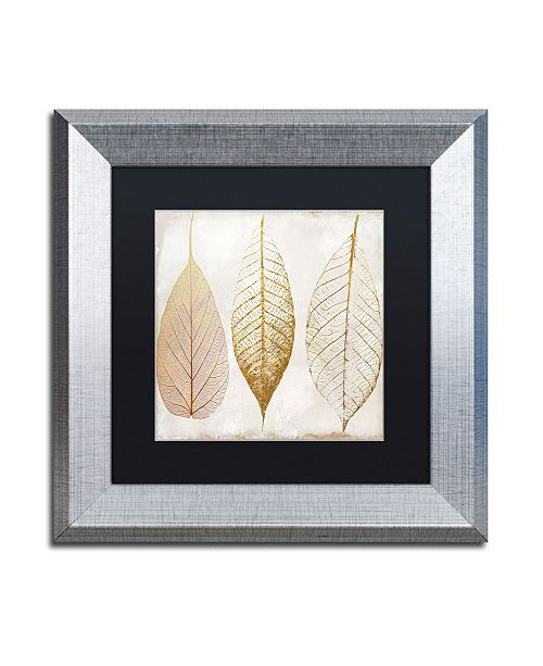 "Trademark Global Color Bakery 'Fallen Gold II' Matted Framed Art - 11"" x 11"""