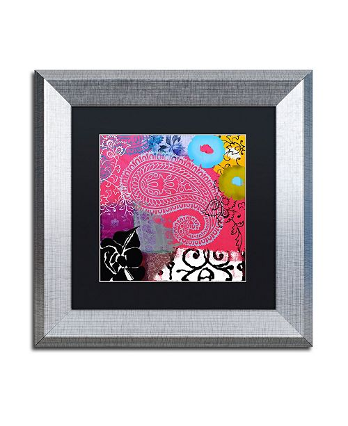 "Trademark Global Color Bakery 'Bali III' Matted Framed Art - 11"" x 11"""
