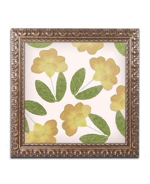 """Trademark Global Color Bakery 'English Garden I' Ornate Framed Art - 11"""" x 11"""""""