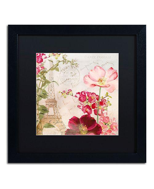 "Trademark Global Color Bakery 'Always Paris I' Matted Framed Art - 16"" x 16"""