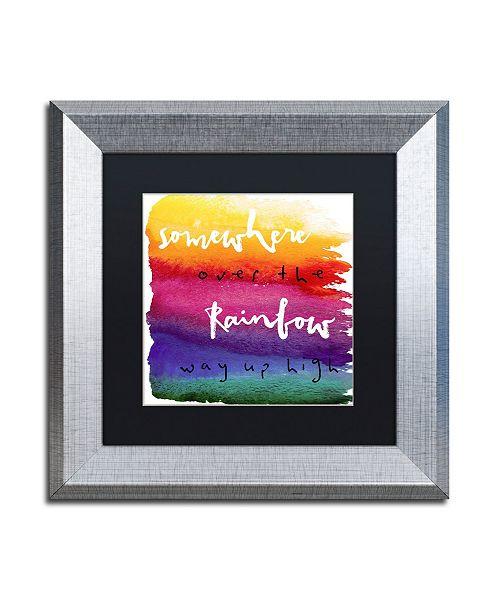 "Trademark Global Color Bakery 'Somewhere' Matted Framed Art - 11"" x 11"""