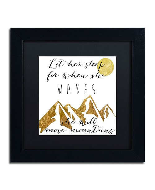 "Trademark Global Color Bakery 'Mountains' Matted Framed Art - 11"" x 11"""