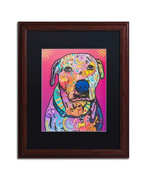 """Trademark Global Dean Russo 'Chancey' Matted Framed Art - 16"""" x 20"""""""