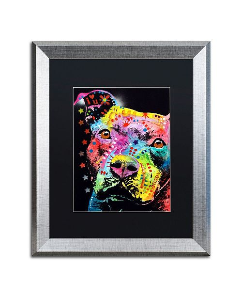 """Trademark Global Dean Russo 'Thoughtful Pit' Matted Framed Art - 16"""" x 20"""""""