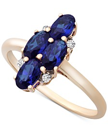 Sapphire (1-3/4 ct. t.w.) & Diamond Accent Ring in 14k Gold