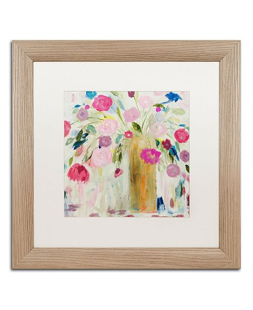 "Trademark Global Carrie Schmitt 'Friendship Blooms' Matted Framed Art - 16"" x 16"""