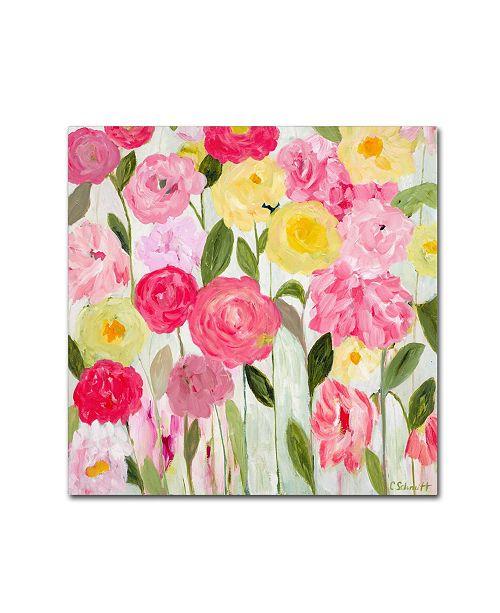 """Trademark Global Carrie Schmitt 'Margaret's Flowers' Canvas Art - 35"""" x 35"""""""