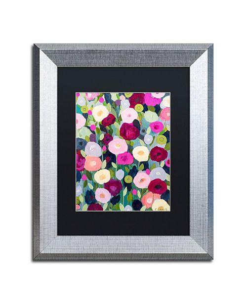 """Trademark Global Carrie Schmitt 'Night Garden' Matted Framed Art - 11"""" x 14"""""""