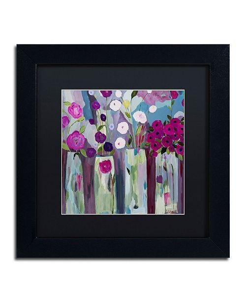 """Trademark Global Carrie Schmitt 'Que Sera Sera' Matted Framed Art - 11"""" x 11"""""""