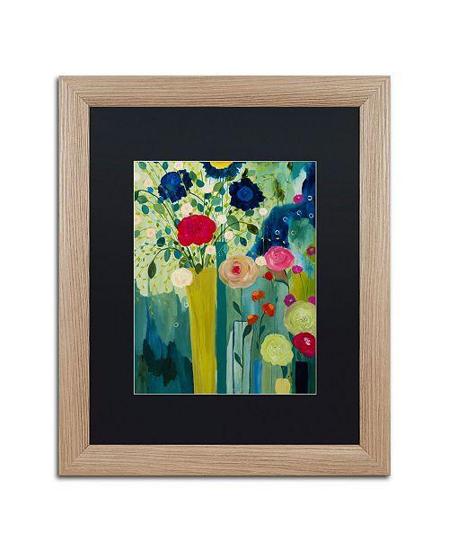 """Trademark Global Carrie Schmitt 'Surround Yourself With Beauty' Matted Framed Art - 16"""" x 20"""""""