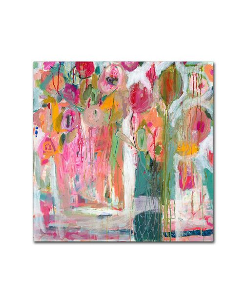 """Trademark Global Carrie Schmitt 'Pink Melody' Canvas Art - 14"""" x 14"""""""