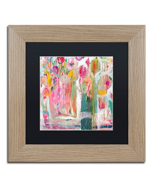 "Trademark Global Carrie Schmitt 'Pink Melody' Matted Framed Art - 11"" x 11"""