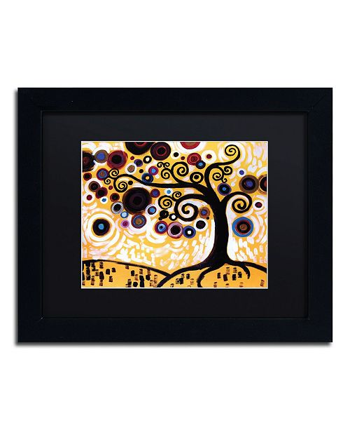 "Trademark Global Natasha Wescoat '010' Matted Framed Art - 11"" x 14"""