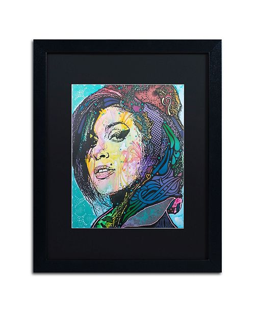 "Trademark Global Dean Russo 'Amy Winehouse' Matted Framed Art - 16"" x 20"""
