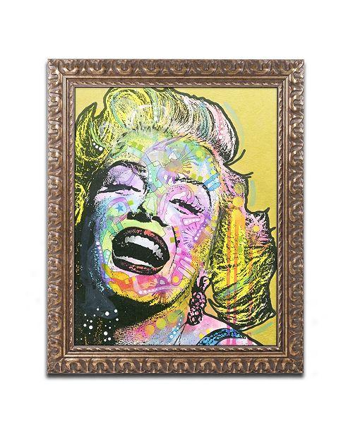 """Trademark Global Dean Russo 'Golden Marilyn' Ornate Framed Art - 11"""" x 14"""""""