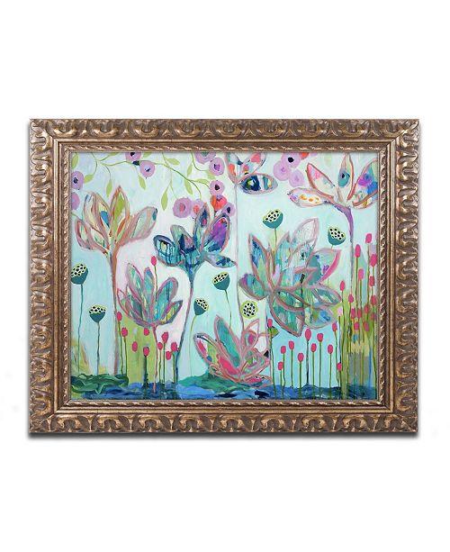 """Trademark Global Carrie Schmitt 'Flying Lotus' Ornate Framed Art - 11"""" x 14"""""""