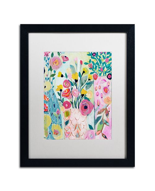 "Trademark Global Carrie Schmitt 'Vase of Flowers' Matted Framed Art - 16"" x 20"""